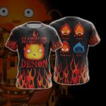 Howl's Moving Castle Calcifer Fire Demon Unisex 3D T-shirt