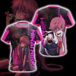 Future Diary Mirai Nikki New Unisex 3D T-shirt