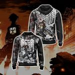 Attack On Titan Eren New Style Zip Up Hoodie
