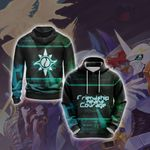 Digimon - Friendship means Courage Unisex 3D Hoodie