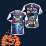 Dragon Ball In The Gym I'm Not Here To Talk Unisex 3D T-shirt