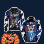 Dragon Ball In The Gym I'm Not Here To Talk Unisex 3D Hoodie