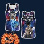 Dragon Ball In The Gym I'm Not Here To Talk Unisex 3D Tank Top