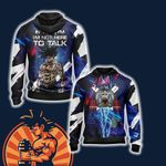 Dragon Ball In The Gym I'm Not Here To Talk Unisex Zip Up Hoodie