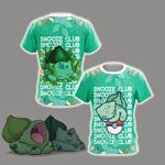 Pokemon - Bulbasaur Snooze Club Unisex 3D T-shirt