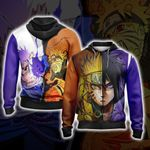 Naruto And Sasuke New Style Unisex Zip Up Hoodie