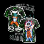 Goku - Stand Up For What You Believe Unisex 3D T-shirt