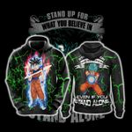 Goku - Stand Up For What You Believe Unisex 3D Hoodie