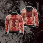 Berserk - Guts Brand of Sacrifice Protective Seal Tailsman Unisex Zip Up Hoodie
