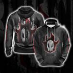 Bleach Skull 3D Hoodie