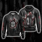 Bleach Skull Unisex Zip Up Hoodie