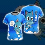 Fairy Tail Happy Unisex 3D T-shirt