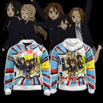 K-On! New Unisex Zip Up Hoodie