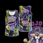 Jojo's Bizarre Adventure - Star Platinum Gym Unisex 3D Tank Top