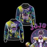 Jojo's Bizarre Adventure - Star Platinum Gym Unisex Zip Up Hoodie