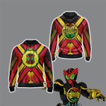 Kamen Rider OOO- Super TaToBa Unisex Zip Up Hoodie