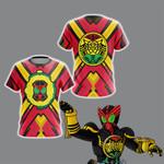 Kamen Rider OOO- Super TaToBa Unisex 3D T-shirt