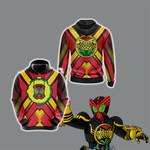 Kamen Rider OOO - Super TaToBa Unisex 3D Hoodie