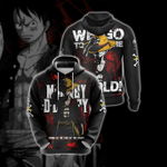 One Piece - I'm Gonna Be The King Of The Pirates Unisex 3D Hoodie