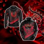Black Rose Dragon - Yu-Gi-Oh 3D Hoodie
