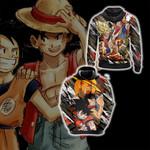 Dragon Ball x One Piece - Happy Halloween Unisex 3D Hoodie