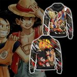 Dragon Ball x One Piece - Happy Halloween Unisex Zip Up Hoodie