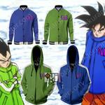 Dragon Ball SAB Vegeta And Goku Cosplay Zip Up Hoodie Jacket Baseball Jacket