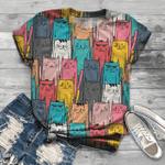 Cat T-Shirts All Over Print T-Shirt S-5Xl