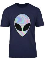 Alien Head Holographic Party Rave Trippy Shirt Men Women