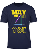 May The Fourth 4Th Be With You Gold T Shirt