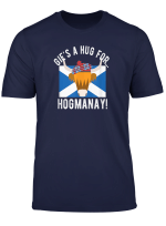 Scottish T Shirt Hug For Hogmanay New Years Eve 2019 Tee