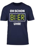 Bier Uhr T Shirt Lustiges Malle Party Alkohol Bier Shirt