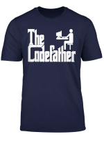 Mens Programmer T Shirt Coding Hacker Tee Codefather Shirt