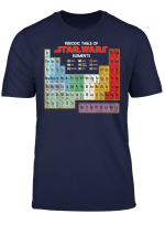 Star Wars Periodic Table Of Elements Graphic T Shirt