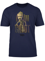 Marvel Guardians Vol 2 I Am Groot Cute Angry Graphic T Shirt