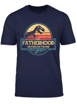 Mens Fatherhood Like A Walk In The Park T Shirt Dad Retro Sunset