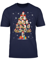 Funny Guinea Pig With Christmas Tree Hat In Snow Santa Xmas T Shirt