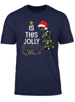 Halloween Is This Jolly Enough Noel Cat Merry Christmas T Shirt