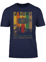 Fa Thor Like Dad Just Way Mightier Hero Fathers Day Gifts T Shirt