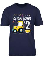 Kinder Traktor Shirt 2 Jahre Geburtstag Jungen Madchen Trecker T Shirt