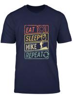 Eat Sleep Hiker Repeat Hiking Wanderer Geschenk T Shirt T Shirt