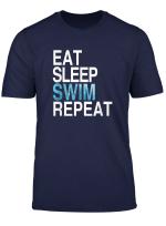 Eat Sleep Swim Repeat T Shirt Sun And Water Summer Swims T Shirt