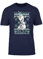 Disney Frozen Olaf Ugly Christmas Sweater Graphic T Shirt