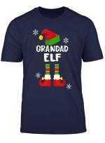 Grandad Elf Hat Matching Christmas Family T Shirt