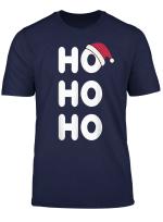 Ho Ho Ho Mit Weihnachtsmutze Merry Christmas Santa Claus T Shirt