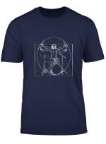 Drums T Shirt Da Vinci Drummer Drumsticks Music Musician