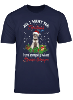 All I Want For Christmas Miniature Schnauzer Gift Xmas T Shirt