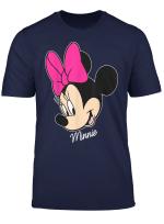 Disney Minnie Mouse Face Portrait Smile Graphic T Shirt