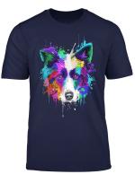 Splash Art Border Collie T Shirt Border Collie Owners Gift