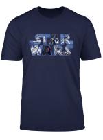 Star Wars Logo Millennium Falcon And Death Star T Shirt